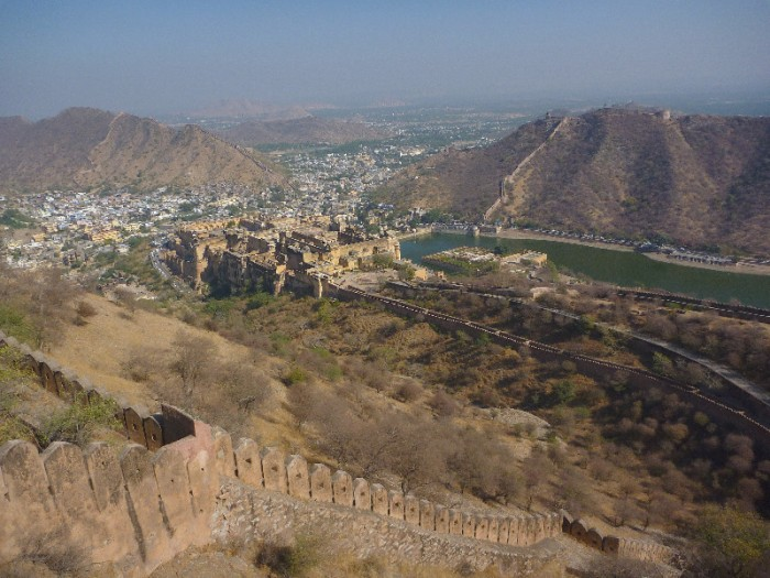 view from the amber fort