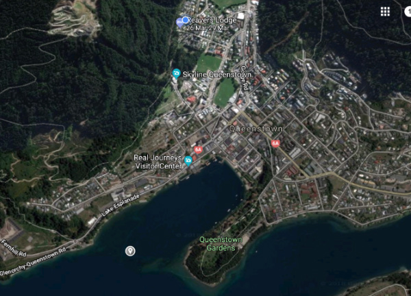 queenstown gearth map